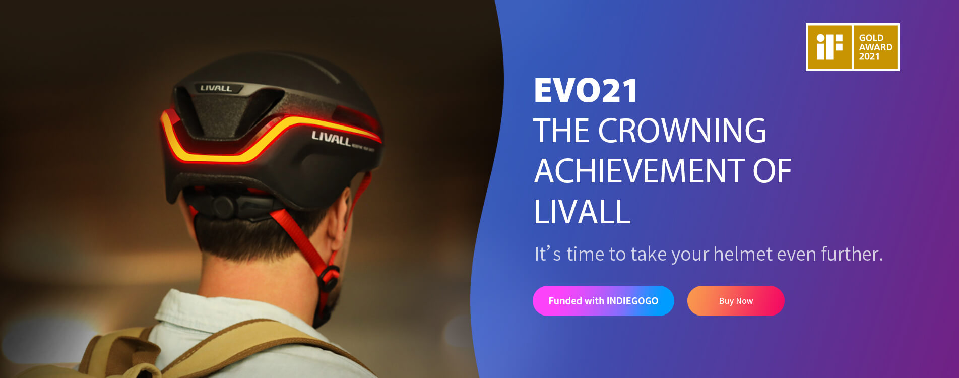 LIVALL EVO21 Banner Indegogo Desktop