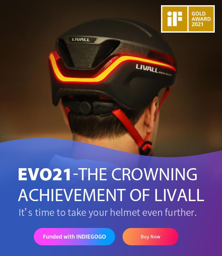 LIVALL EVO21 Banner Indegogo Mobile